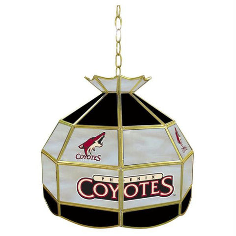 NHL Phoenix Coyotes Stained Glass Tiffany Lamp - 16 inch dia
