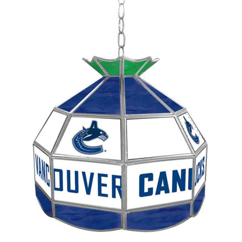 NHL Vancouver Canucks Stained Glass Tiffany Lamp - 16 inch d
