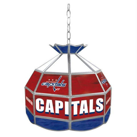 NHL Washington Capitals Stained Glass Tiffany Lamp - 16 inch