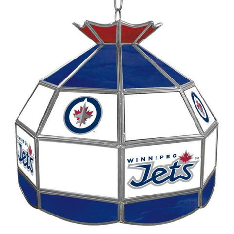 NHL Winnipeg Jets Stained Glass Tiffany Lamp - 16 inch diame