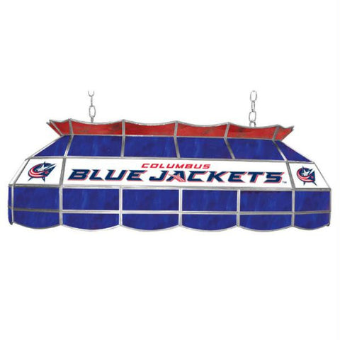 NHL Columbus Blue Jackets Stained Glass 40 inch Lighting Fix