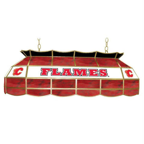 NHL Calgary Flames Stained Glass 40 inch Lighting Fixture