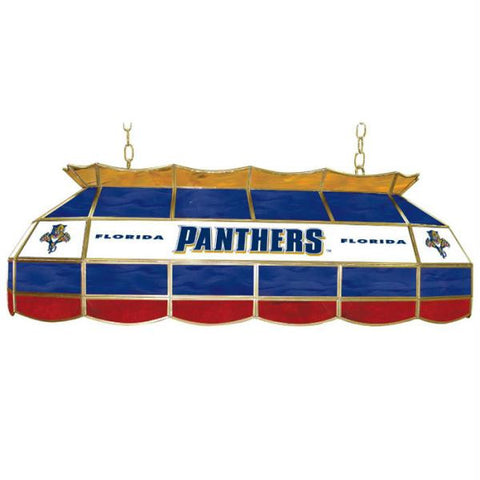 NHL Florida Panthers Stained Glass 40 inch Lighting Fixture