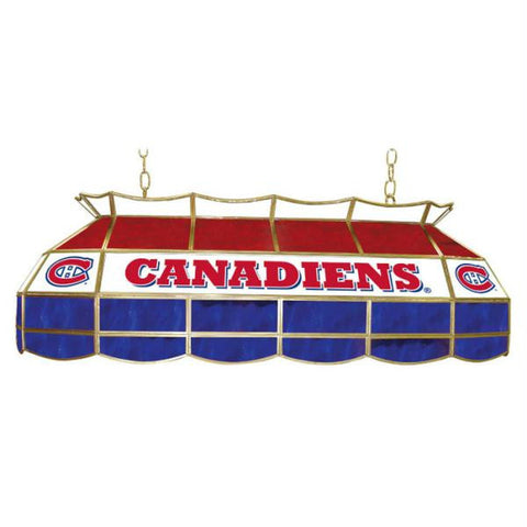 NHL Montreal Canadiens Stained Glass 40 inch Lighting Fixture