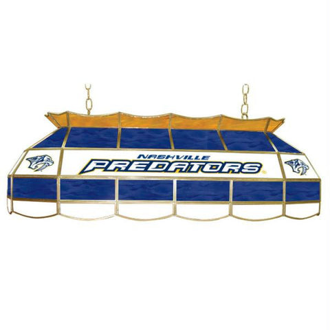 NHL Nashville Predators Stained Glass 40 inch Lighting Fixtu