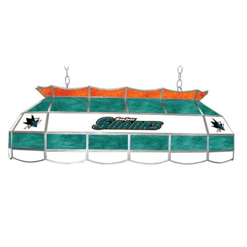 NHL San Jose Sharks Stained Glass 40 inch Lighting Fixture