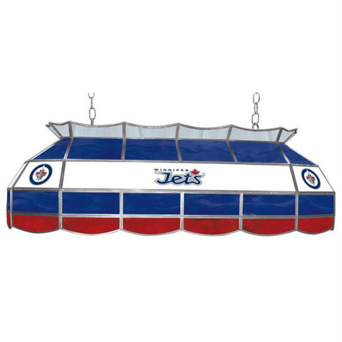 NHL Winnipeg Jets Stained Glass 40 inch Lighting Fixture