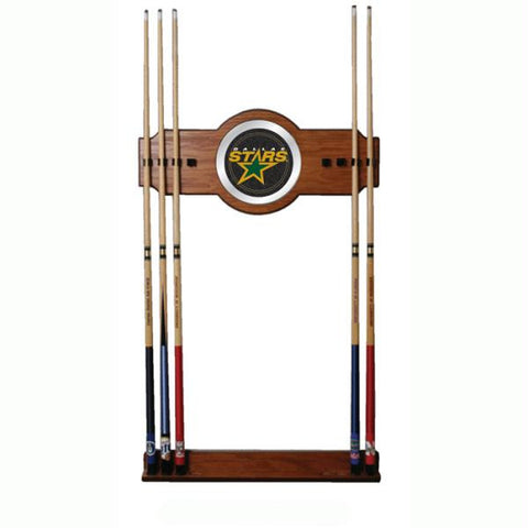NHL Dallas Stars 2 piece Wood and Mirror Wall Cue Rack
