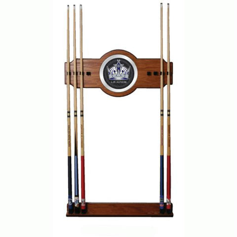 NHL Los Angeles Kings 2 piece Wood and Mirror Wall Cue Rack