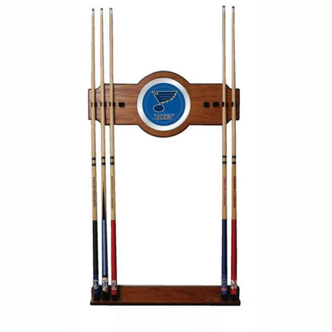 NHL St. Louis Blues 2 piece Wood and Mirror Wall Cue Rack