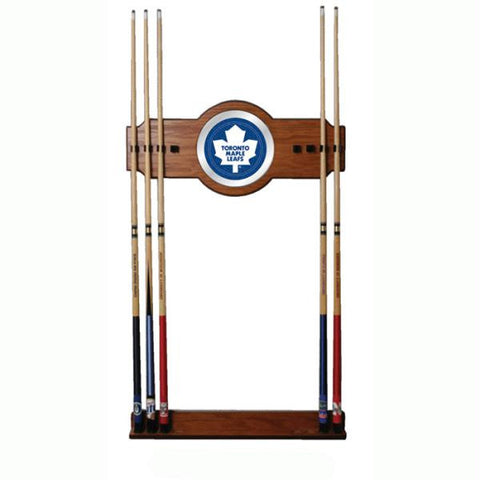 NHL Toronto Maple Leafs 2 piece Wood and Mirror Wall Cue Rac