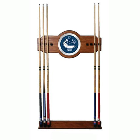 NHL Vancouver Canucks 2 piece Wood and Mirror Wall Cue Rack