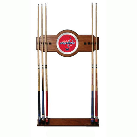 NHL Washington Capitals 2 piece Wood and Mirror Wall Cue Rac