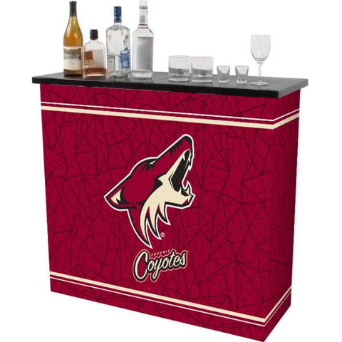 NHL Phoenix Coyotes 2 Shelf Portable Bar w- Case