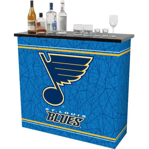 NHL St. Louis Blues 2 Shelf Portable Bar w- Case