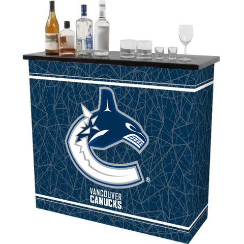 NHL Vancouver Canucks 2 Shelf Portable Bar w- Case