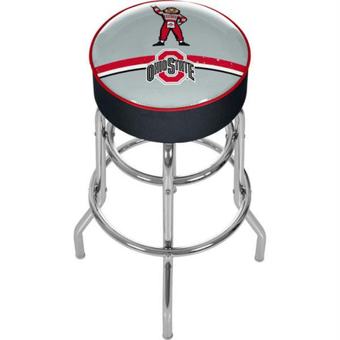 Ohio State Brutus Stripe Padded Bar Stool