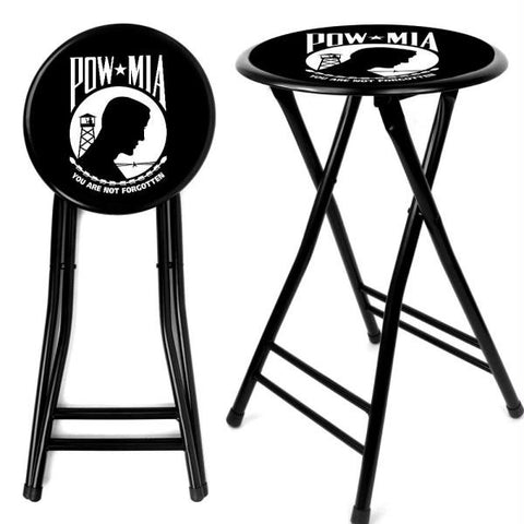 POW 24Inch Cushioned Folding Stool - Black