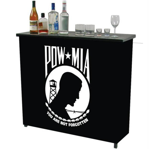 POW Metal 2 Shelf Portable Bar Table w- Carrying Case