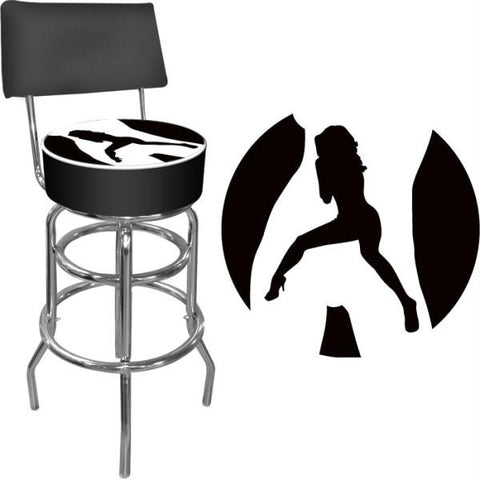 Shadow Babes - C Series - High Grade Padded Bar Stool w-Back