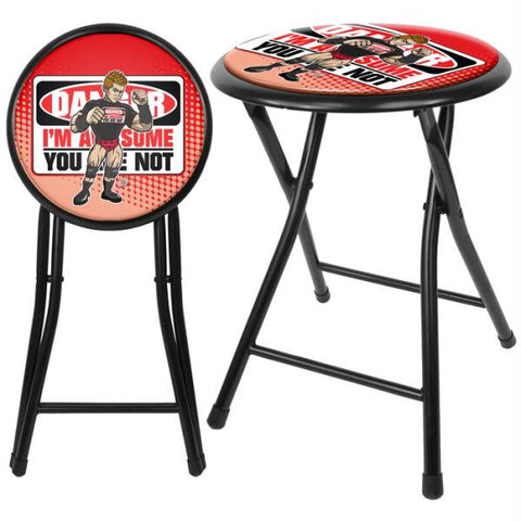 WWE Kids The Miz 18 Inch Folding Stool - Black
