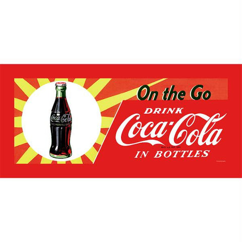 On the Go Coke Stretched Canvas 12x30 Inch