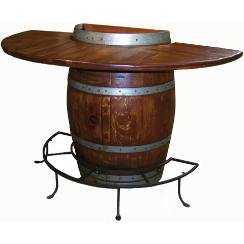 Half Barrel Bistro Table (Made from Wine Barrels)