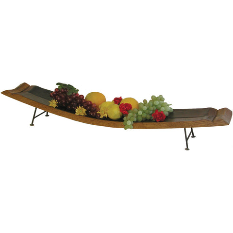 Double Stave Serving Tray with Iron Feet