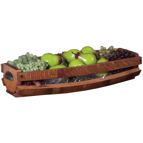 Wine Barrel Stave Table Basket