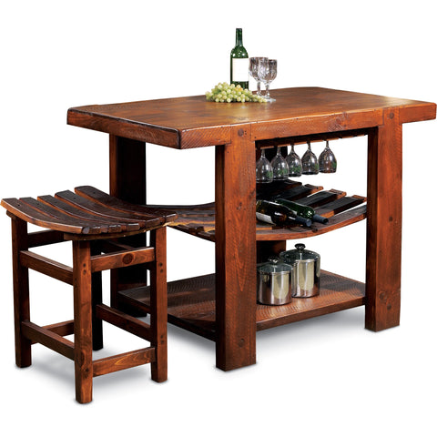 Russian River Kitchen Island & Tasting Stool
