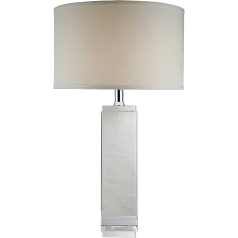 "Regina  17"" Diam Table Lamp, Chrome Finish, Clear Crystal,"