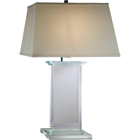 "Regina  18"" L Table Lamp, Chrome Finish, Clear Crystal,"