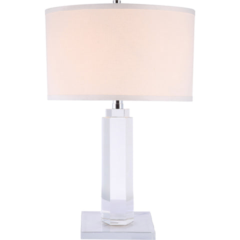 "Regina 14"" Diam Table Lamp, Chrome Finish, Clear Crystal,"