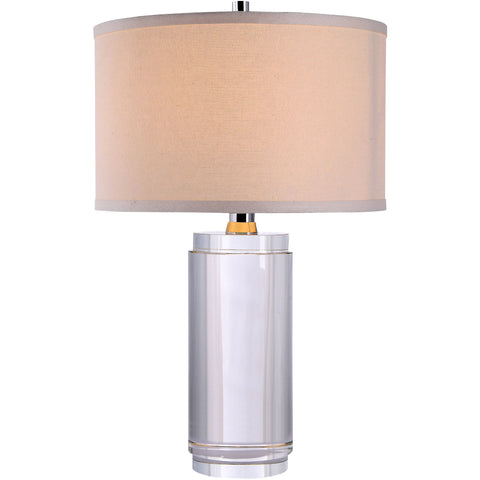 "Regina 13"" Diam Table Lamp, Chrome Finish, Clear Crystal,"