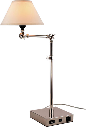 Brio 1-Light Table Lamp, Polished Nickel Finish