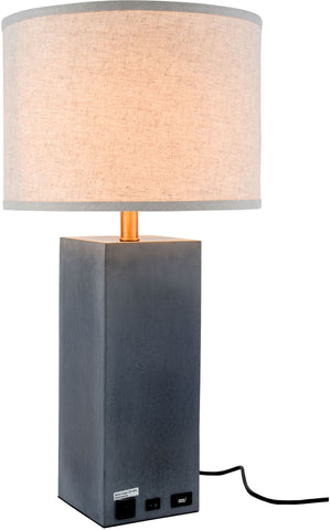 Brio 1-Light Table Lamp, Concrete Finish