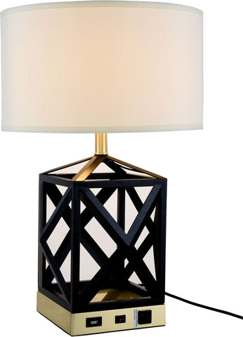 Brio 1-Light Table Lamp, Black Finish