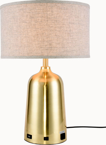 Brio 1-Light Table Lamp, Brushed Brass Finish