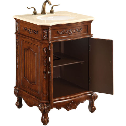 "Danville 24""x21""x35"" 2-Door Vanity Cabinet, Brown"