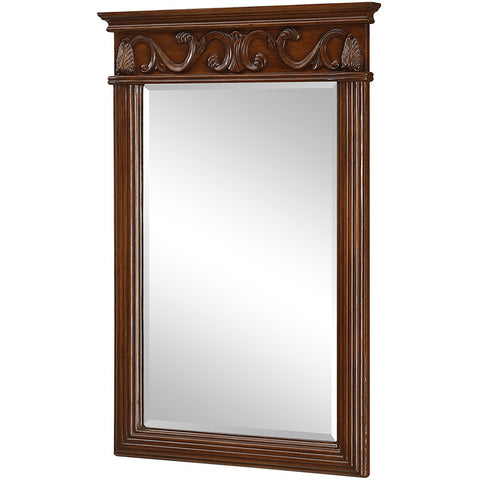 "Danville 25""x36"" Vanity Mirror, Brown"