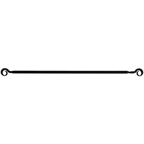 Wrought Iron Curl Curtain Rod