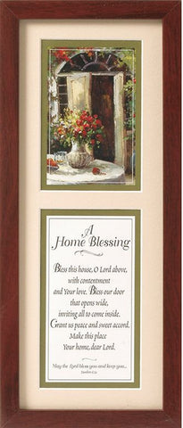 A Home Blessing 8x18 Framed Art