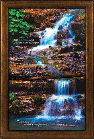 The Lord Will Guide 13x19 Framed Art