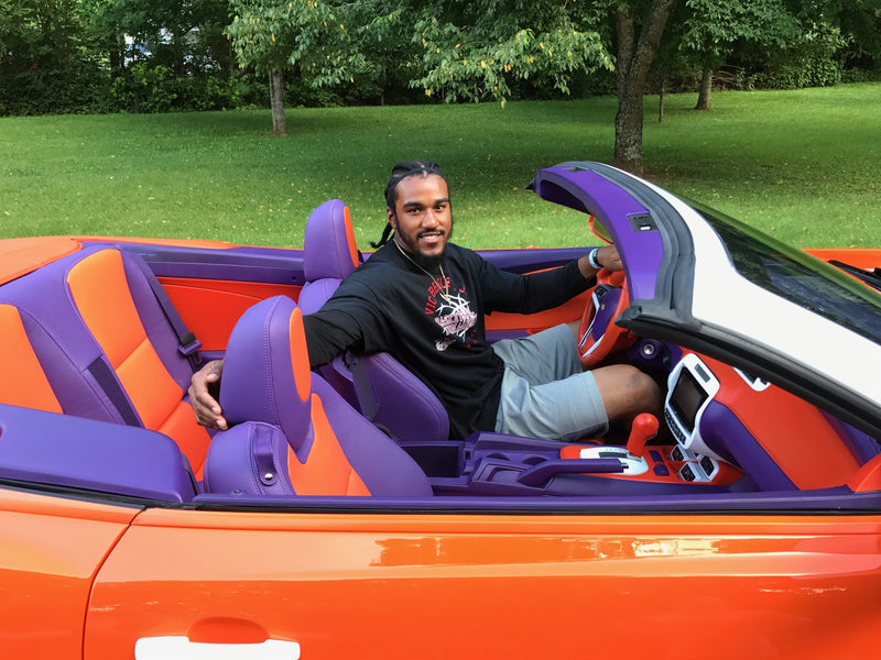 Vic Beasley Painted His Car Clemson Colors and it's Awesome