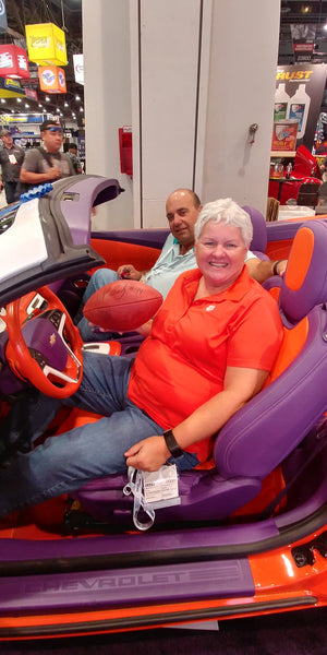 Tammy in Vic Beasley's Car