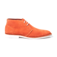 Lisbon Orange Suede Desert Boot