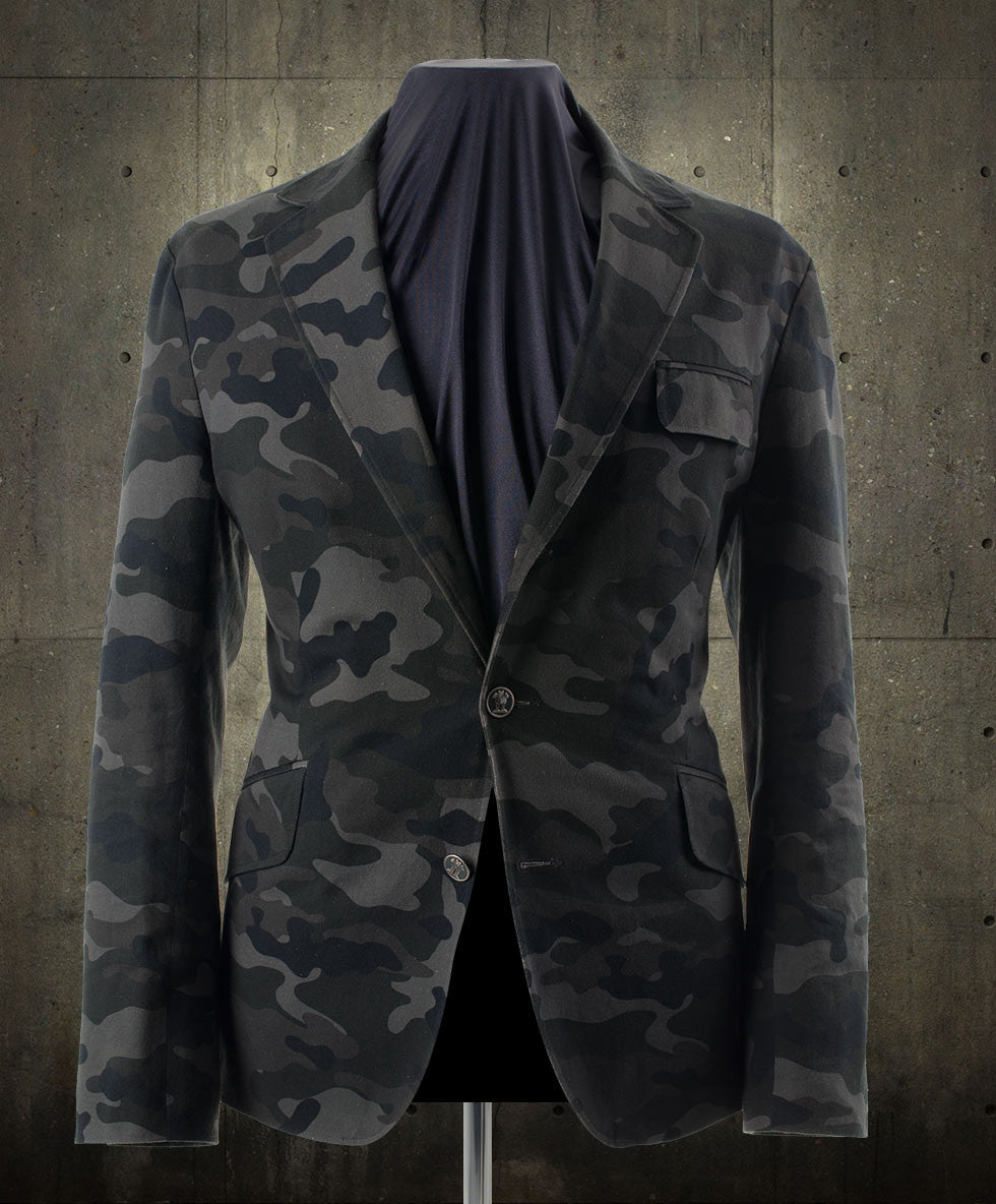 Blake Dark Camo Blazer with steel buttons and NASA lining.
