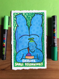 Embrace Small Beginnings (Original Painting)