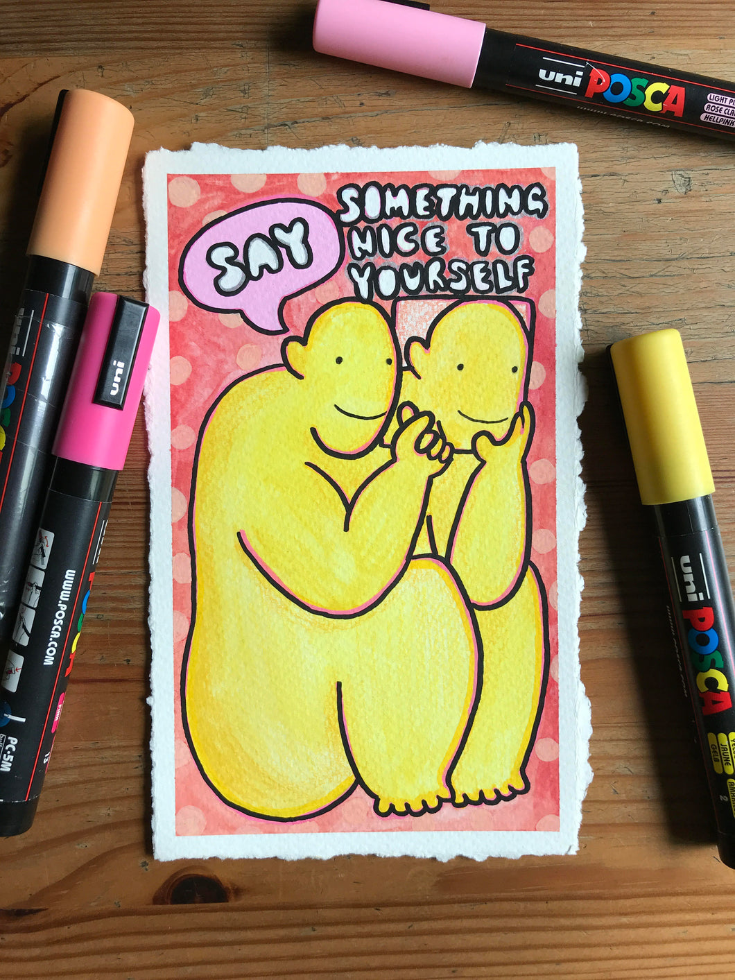 Say Something Nice To Yourself (Original Painting)