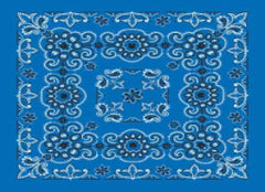 Classic Bandana Deluxe Royal Blue Paisley (27x27-inch NON-COOLING)